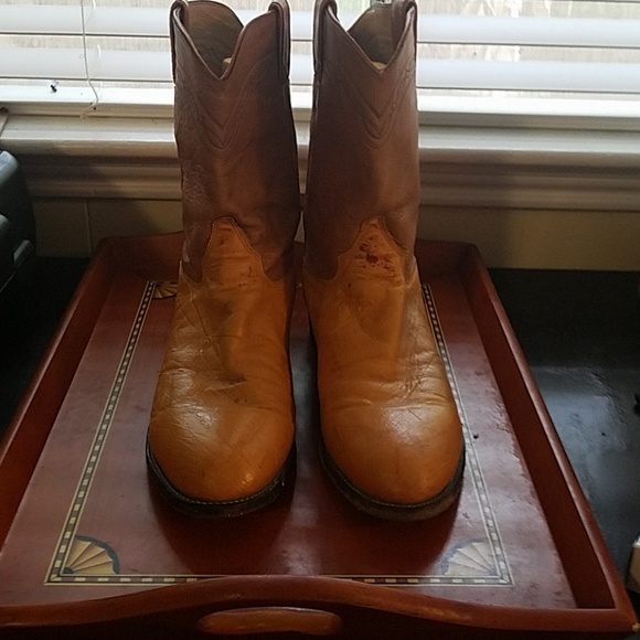 3ae822ed511 Mens golden leather cowboy boots 11.5d